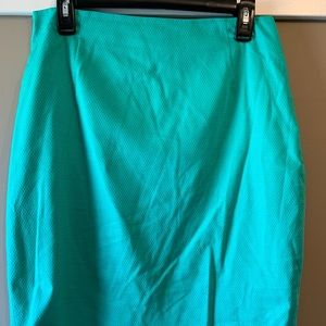The Limited green pencil skirt